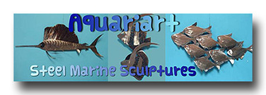 Underwater Metal Art - Aquariart by Maryann Evetts